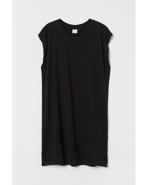 H&M Black Ärmelloses Jerseykleid