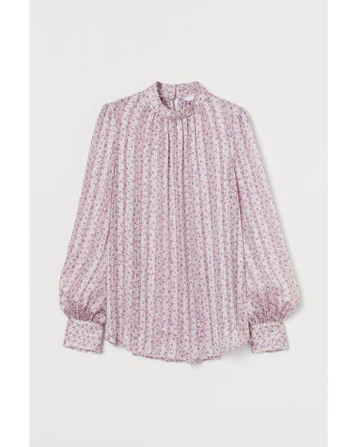 H&M Purple Weite Bluse