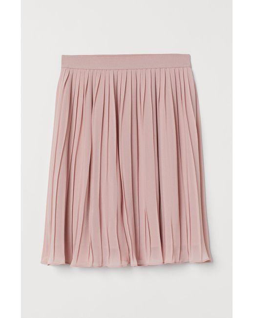 H&M Pink Plissierter Rock