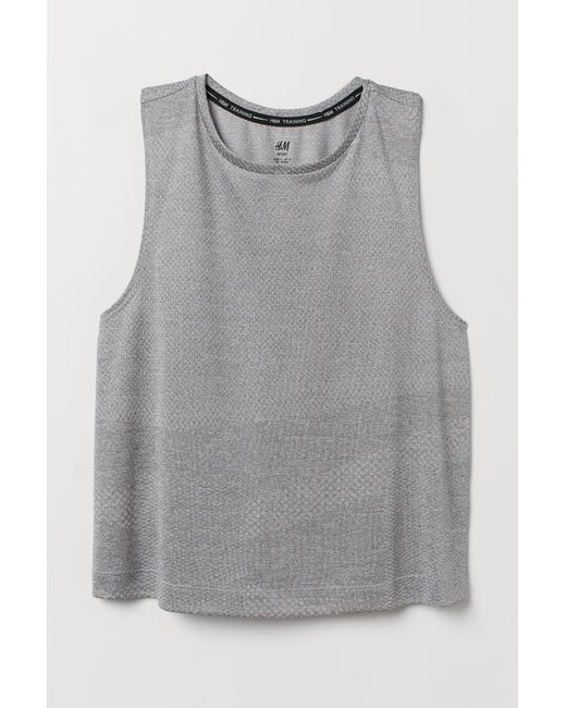 ce424a4cf1714 H M Sports Vest Top in Gray - Lyst