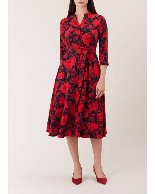 Hobbs Red Ciara Dress