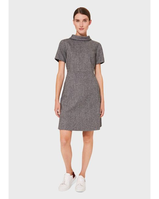 Hobbs Gray Martha Wool Dress