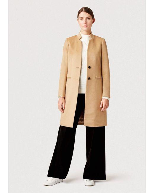 Hobbs Natural Tilda Wool Revere Coat