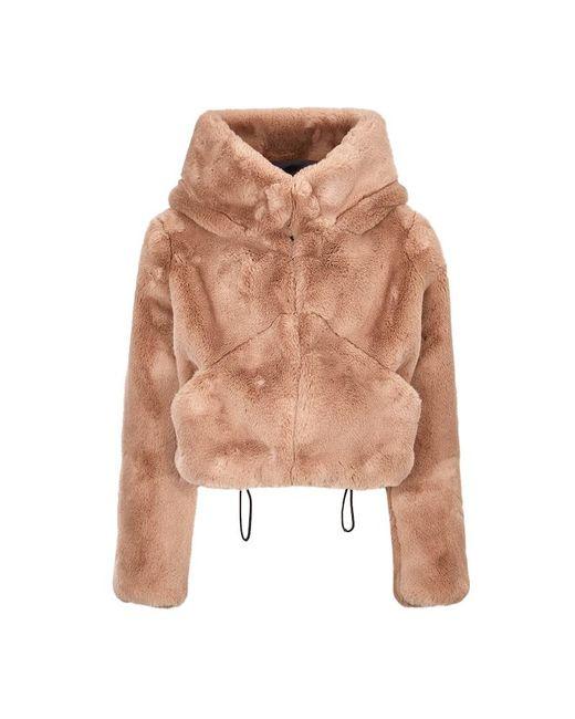 Faux Fur Jacket di Hogan in Natural