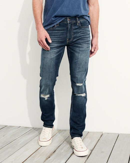 Hollister Advanced Stretch Super Skinny Jeans in Blue for ...