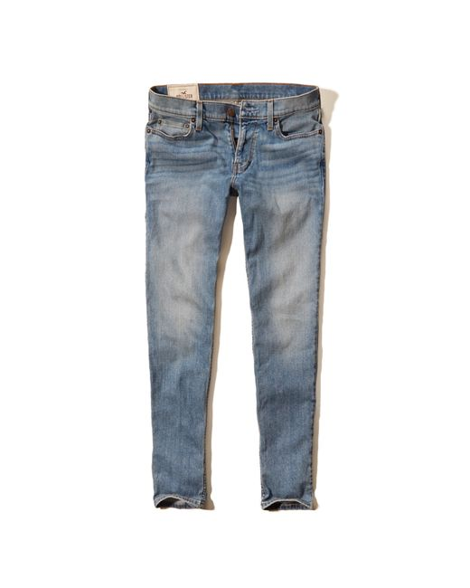 Hollister Super Skinny Jeans in Blue for Men (LIGHT WASH) - Save 60% | Lyst