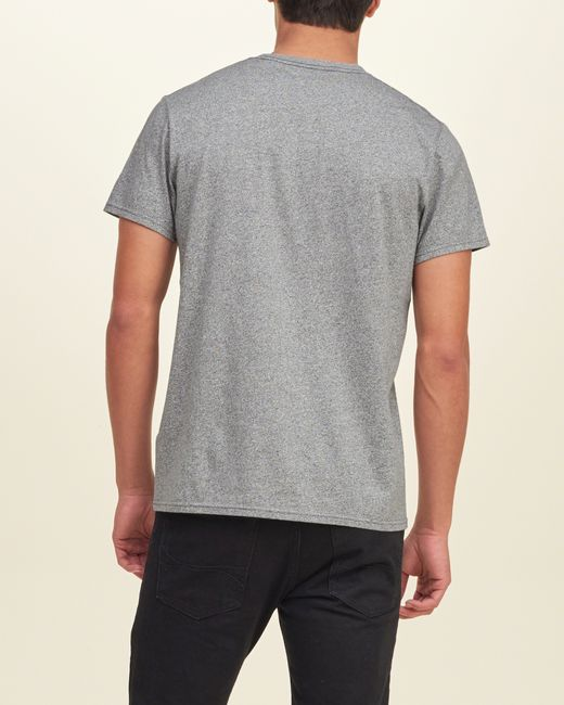 Hollister must have crew t shirt in gray for men grey lyst for Must have dress shirts