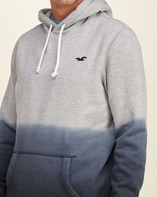 Hollister Iconic Dyed Hoodie In Gray For Men (GREY)
