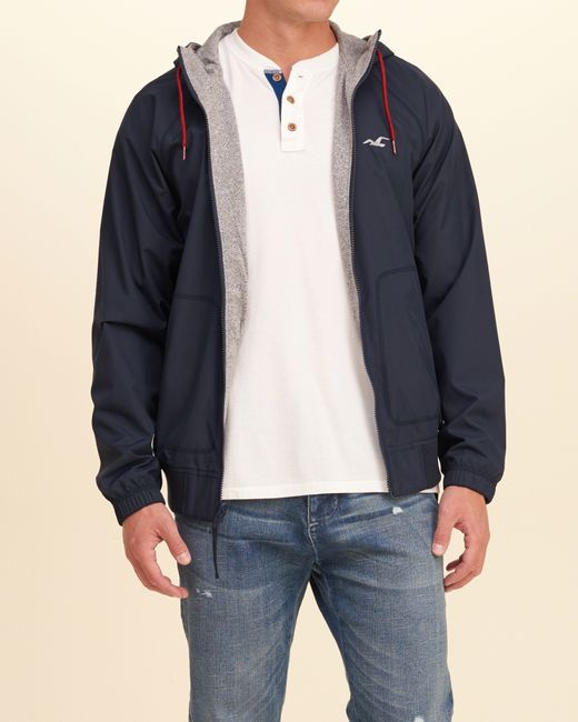 Hollister Reversible Nylon Windbreaker in Blue for Men ...