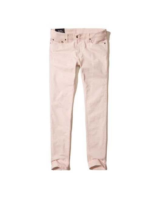 Hollister | Pink Skinny Jeans for Men | Lyst