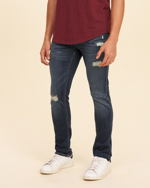 Hollister Skinny Jeans in Blue for Men   Lyst
