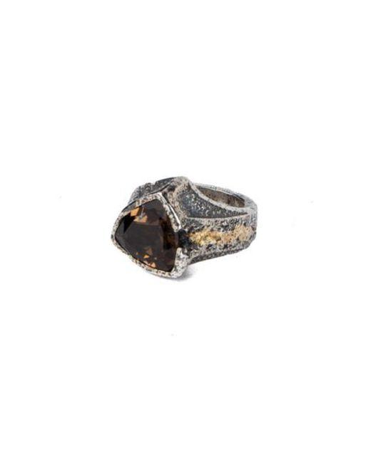 Tobias Wistisen - Metallic Antique Triangle Stone Ring - Lyst