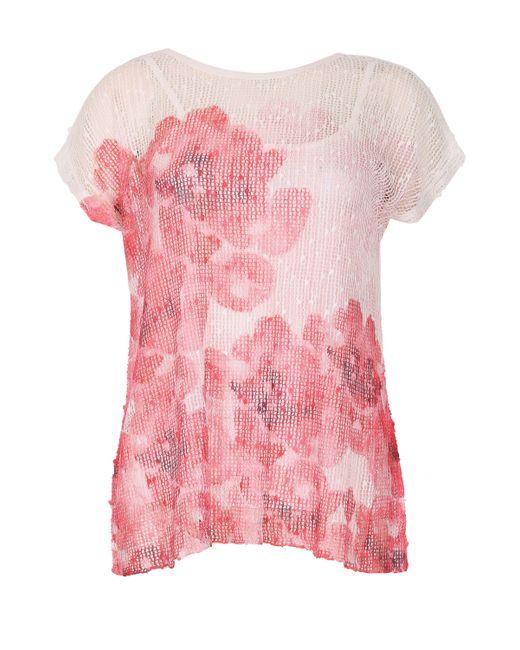 Izabel London   Pink Poppy Blur Layer Top   Lyst