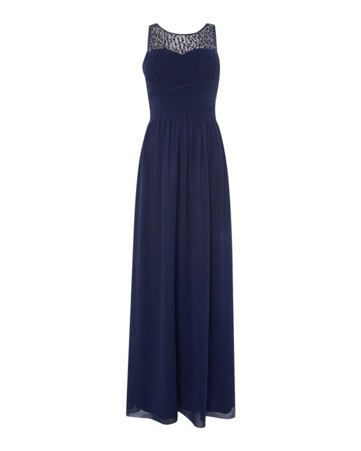 Little Mistress   Blue Beaded Top Maxi Dress   Lyst