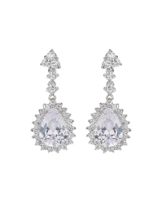 Mikey | Multicolor Oval Cubic Edged Crystal Drop Earring | Lyst
