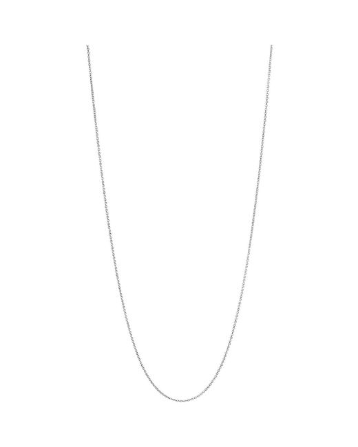 Links of London Metallic Essentials Sterling Silver 1.2mm Cable Chain 60cm