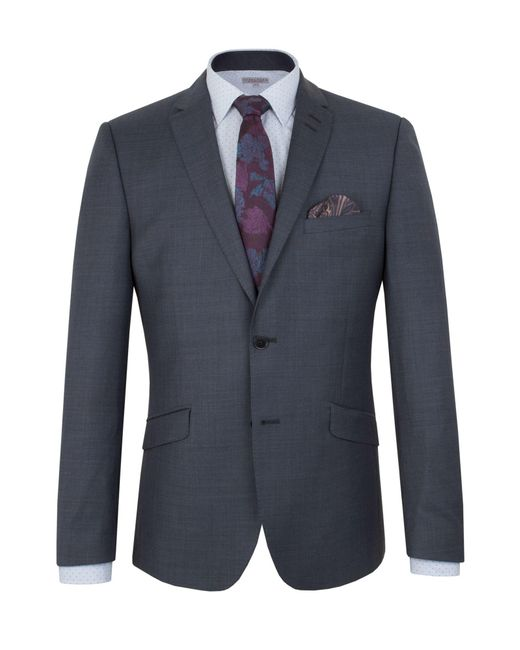 Alexandre Of England - Blue Plain Slim Fit Suit Jacket for Men - Lyst