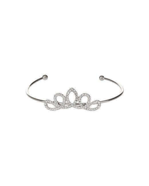 Mikey - Metallic Edged Crown Design Cuff Bracelet - Lyst