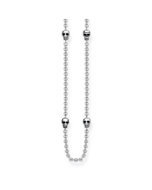 Thomas Sabo Metallic Rebel At Heart Mini Skull Necklace
