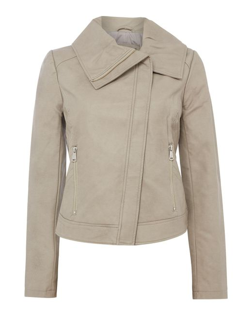 Bernardo - White Winged Collar Jacket - Lyst