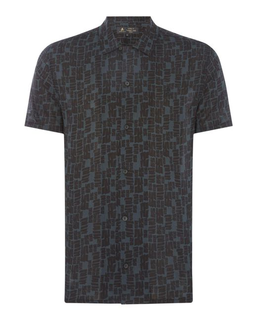 Label Lab - Black Men's Tile Print Shirt for Men - Lyst