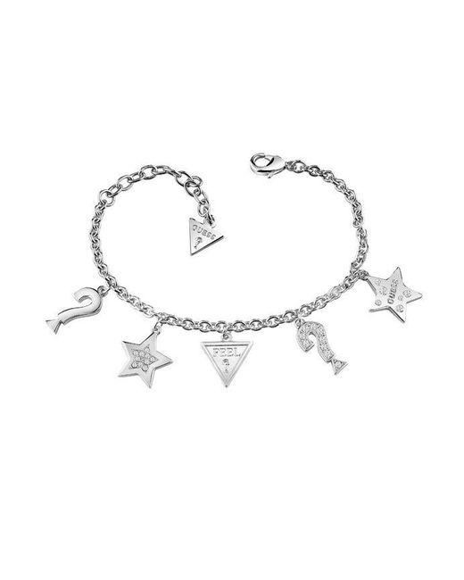 Guess | Metallic Feel Ubb83044-l Charm Bracelet | Lyst