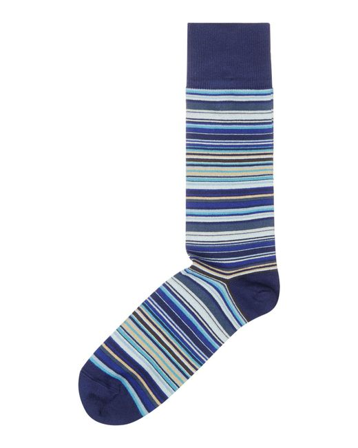 Paul Smith | Blue Multi Stripe Sock for Men | Lyst