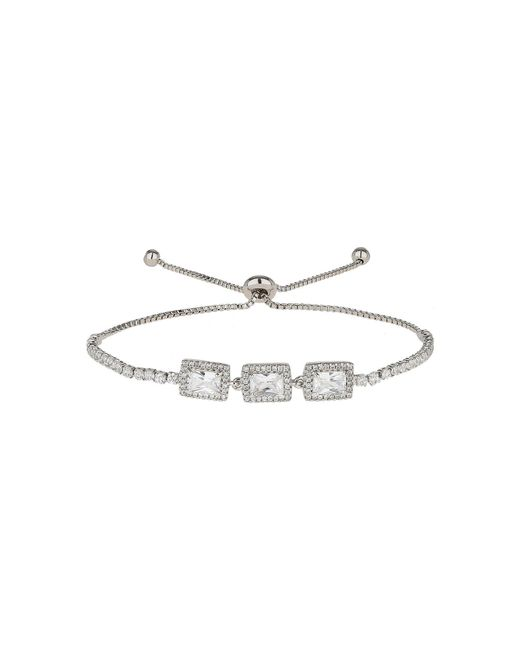 Mikey | White Rectangle Cubic Beads Tie Up Bracelet | Lyst