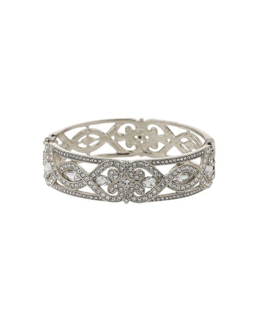 Mikey - Metallic Spiral Twist Crystal Filigree Bracelet - Lyst