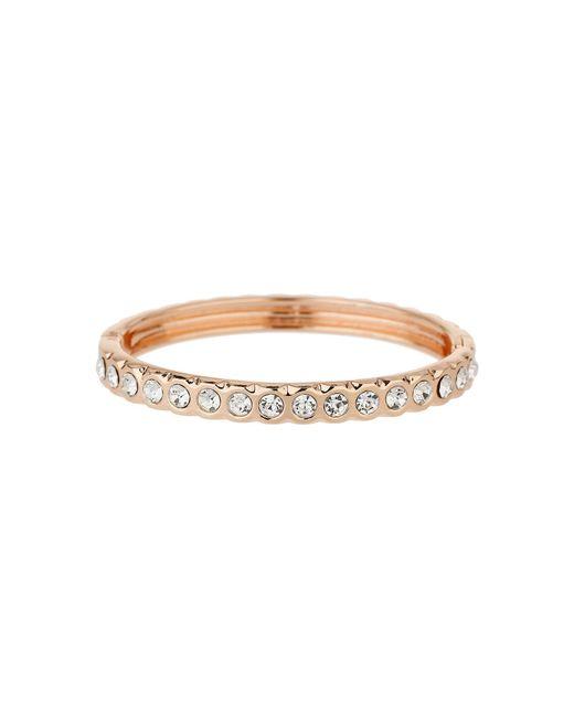 Mikey - Metallic Round Crystals Linked Cuff Bracelet - Lyst