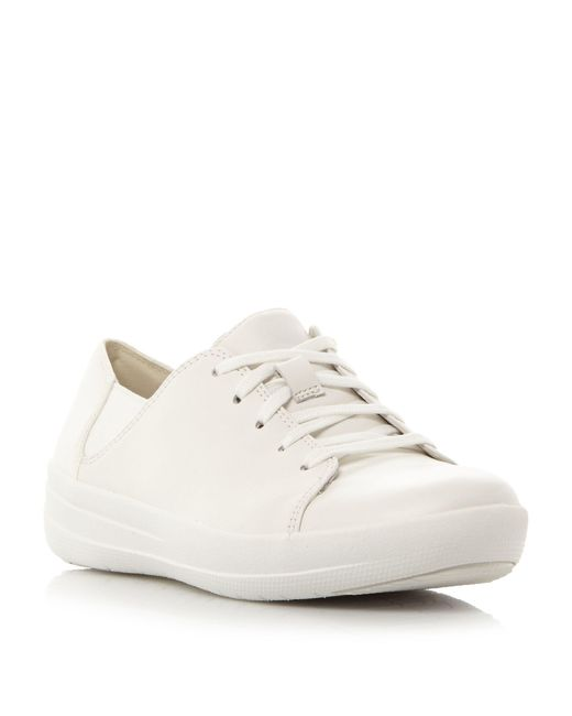 Fitflop | White F-sporty Lace Up Perforated Trainers | Lyst