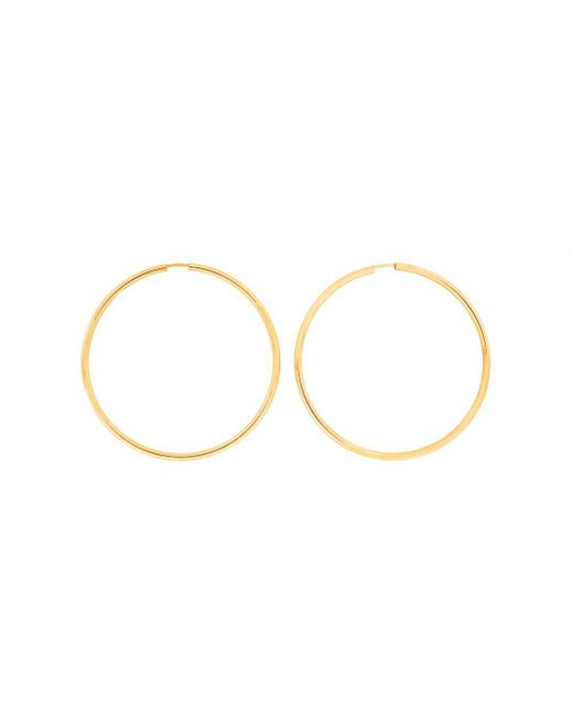 Azendi - Metallic Gold Plated Silver Hoops 5cm - Lyst