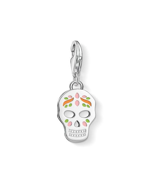 Thomas Sabo - Metallic Charm Club Sugar Skull Charm - Lyst