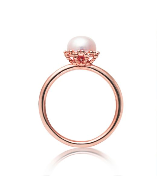 Jersey Pearl - Metallic Freshwater Pearl Ring - Lyst