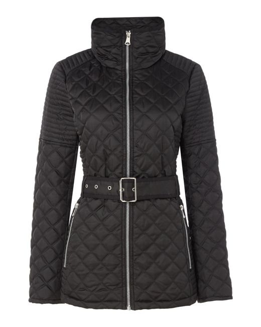 Andrew Marc   Black Quilted Jacket With Tuck Away Hood   Lyst