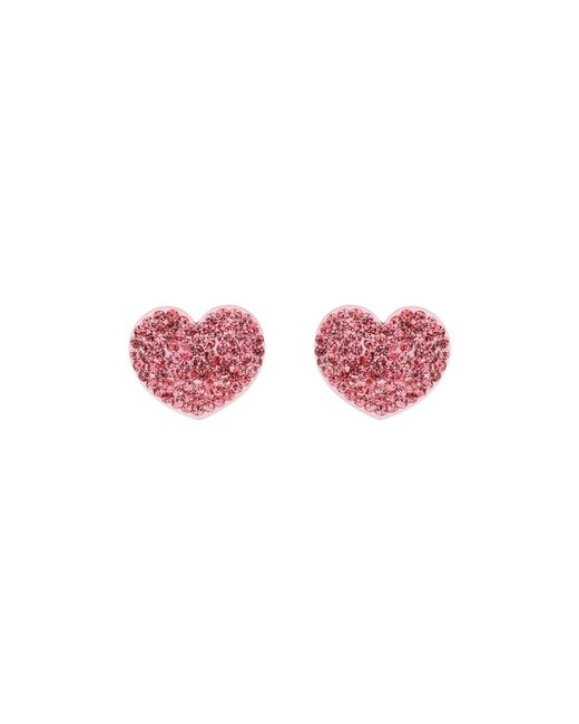 Mikey | Pink Flat Heart Earrings | Lyst