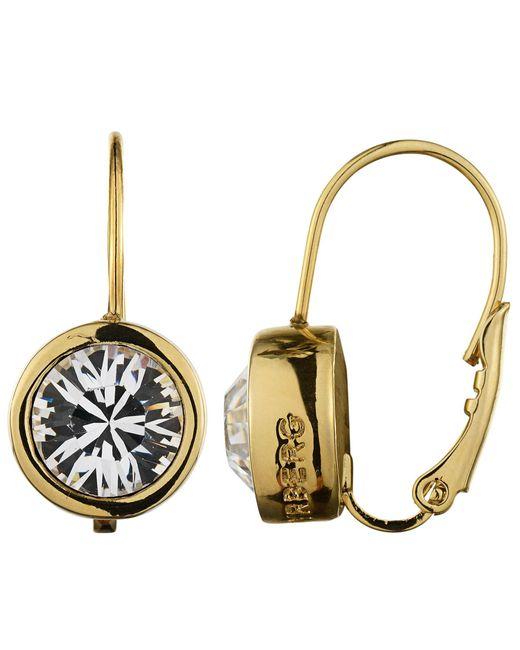Dyrberg/Kern | Metallic Louise Gold Crystal Earrings | Lyst