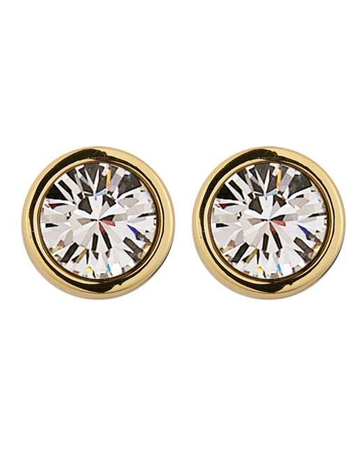 Dyrberg/Kern | Metallic Noble Gold Crystal Earrings | Lyst