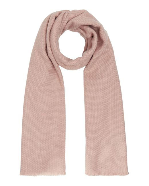 Barbour - Pink Waffle Textured Scarf - Lyst