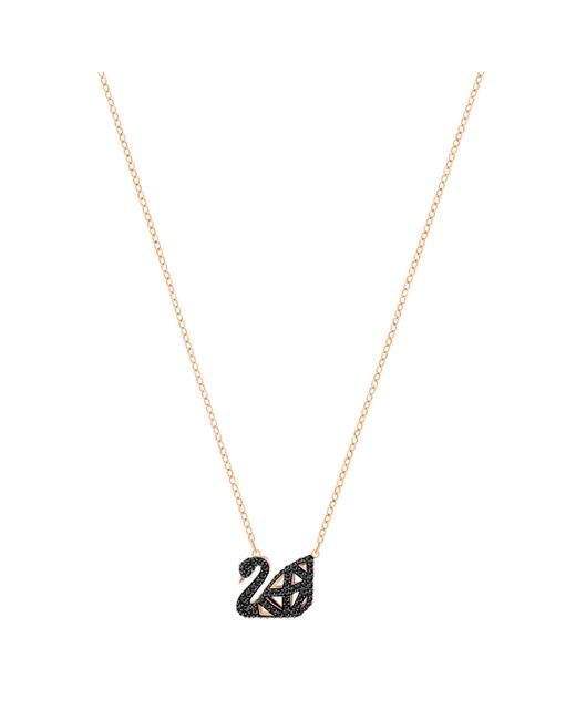 Swarovski | Metallic Facet Swan Necklace | Lyst