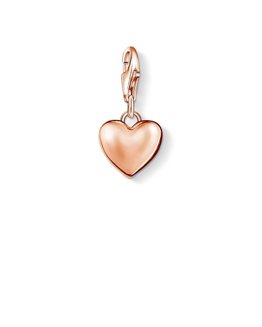 Thomas Sabo | Pink Charm Club Heart Pendant | Lyst