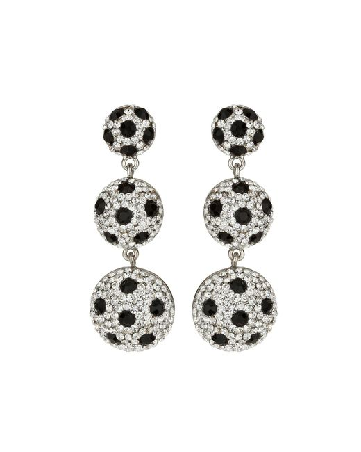 Mikey | Metallic 3 Drop Earrings With Spots | Lyst