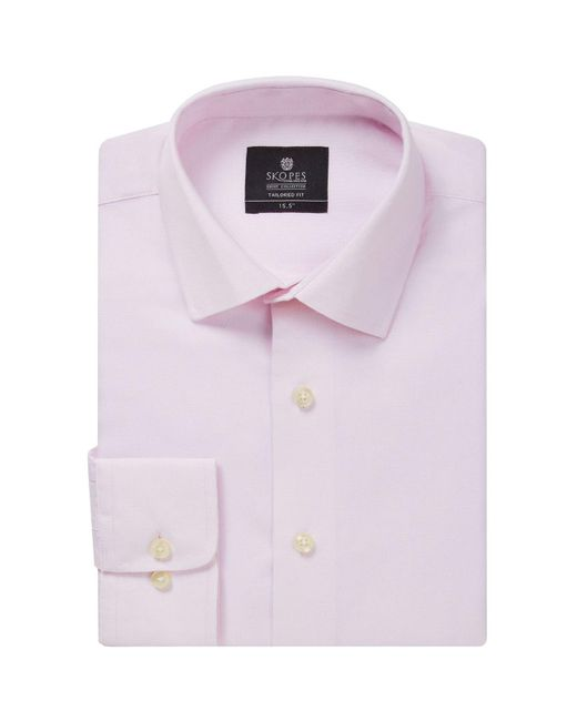 Skopes Pink Tailored Fit Formal Shirt for men