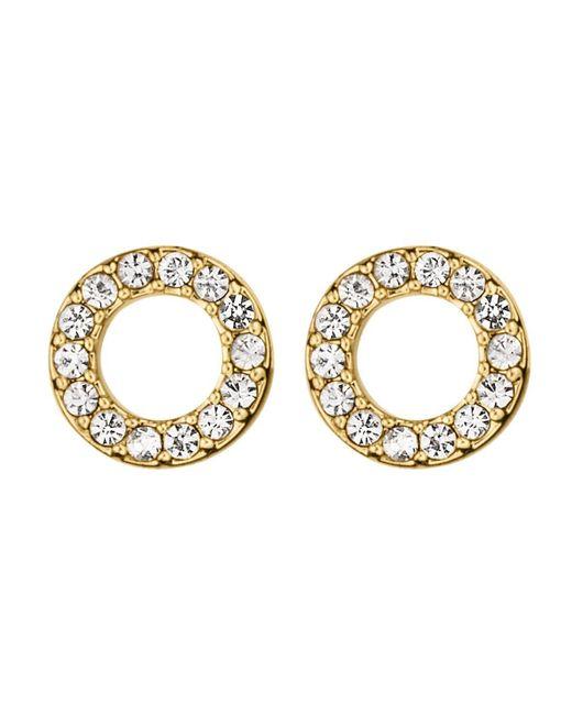 Dyrberg/Kern | Metallic Koro Shiny Gold Crystal Earring | Lyst