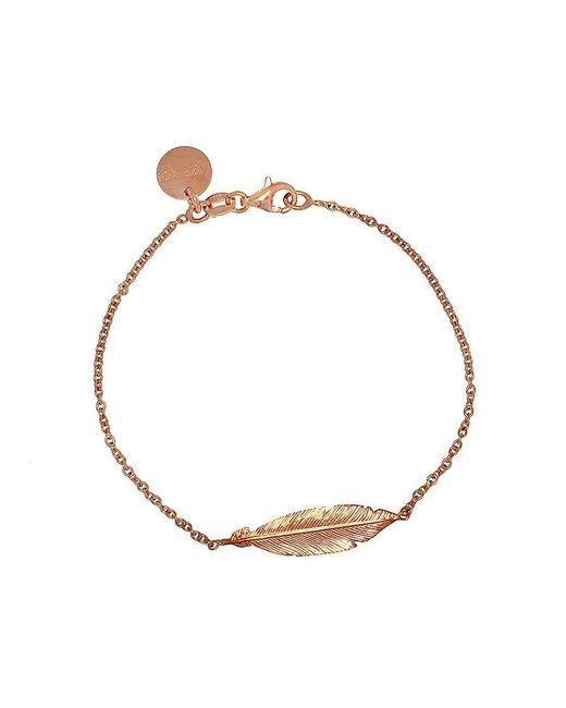 Azendi | Metallic Rose Gold Vermeil Feather Bracelet | Lyst