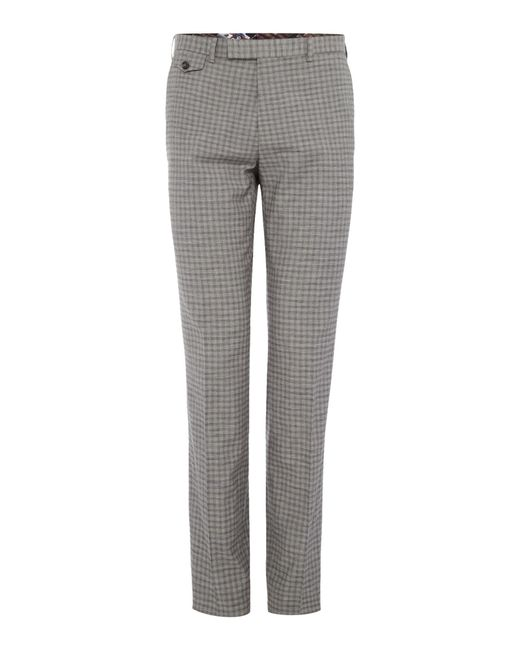 Ted Baker | Gray Tench Grey Check Suit Trousers for Men | Lyst