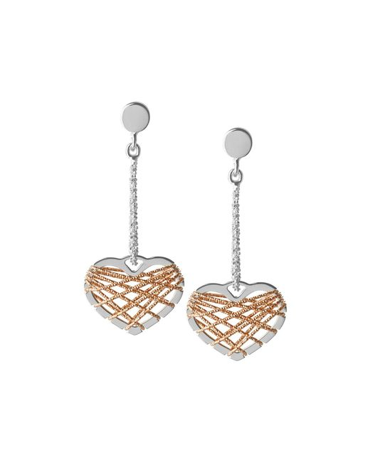 Links of London | Metallic Dream Catcher Heart Rose Gold Earrings | Lyst