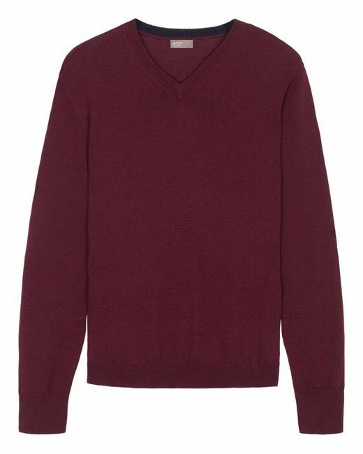 Jaeger | Purple Men's Merino Contrast V-neck Sweater for Men | Lyst