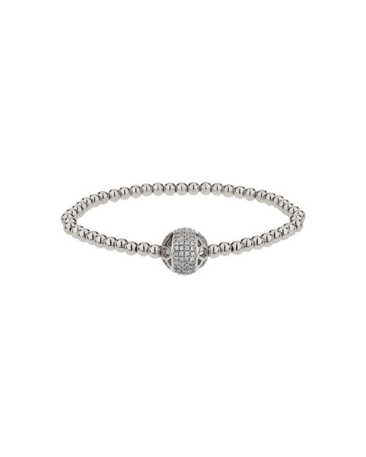 Mikey | Gray Filigree Solid Crystal Bead Bracelet | Lyst