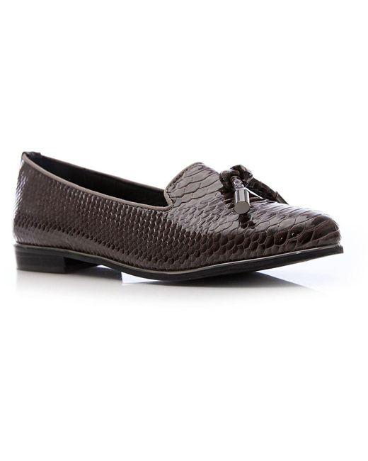 Moda In Pelle Gray Eadlist Flat Smart Shoes